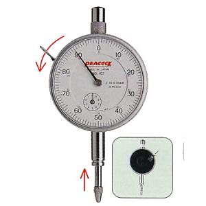 Dial indicator gauges 107-BL
